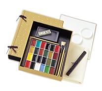 Nihonga Sumi-e Watercolor Painting Full Set - 24 Colors plus