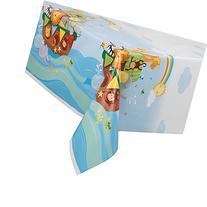 "Noah's Ark Baby Shower Plastic Tablecloth, 84"" x 54"