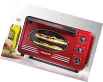 Nostalgia RTOV220RETRORED Retro 12-Slice Convection Toaster