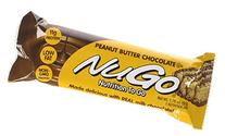 NuGo All-Natural Nutrition Bar, Peanut Butter Chocolate, 1.
