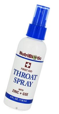Nutribiotic - First Aid Throat Spray with Zinc + GSE - 4 oz