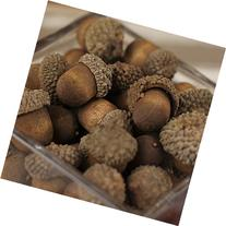 Nutty-brown Artificial Acorns with Natural Acorn Caps for