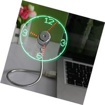 OnetwoUSB LED Clock Fan with Real Time Display Function,USB