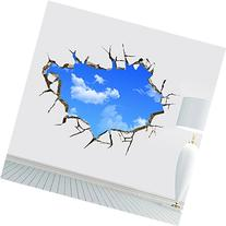 HST Wall Decal 3d Mural a Corner of Blue Sky Removable Wall