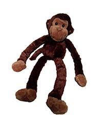 One Large Hanging Velcro Hand Stuffed Animal Plush Monkey by