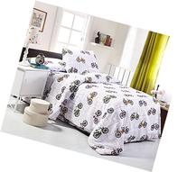 One Twin Duvet Cover and One Pillowcase, Bedding Sets for