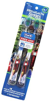 Oral-B Pro-Health Stages Avengers Assemble Toothbrushes  5-7