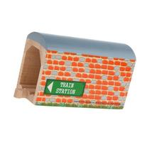 Orbrium Toys Large Wooden Train Tunnel for Wooden Railway