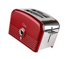 Orva Auto Stainless Steel Toaster for Toast Bagels, Hot Red