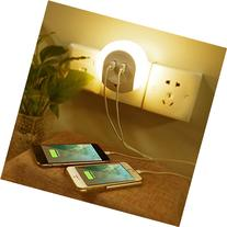 OurWarm LED Night Light with Dusk to Dawn Sensor and USB