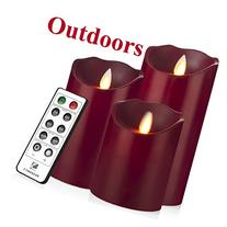 Outdoor Indoor LED Candles Waterproof Battery Operated