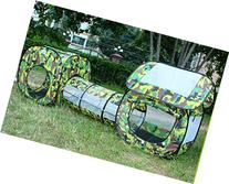 Outdoor Indoor Play House Tent Tunnel,LifeVC Child Playhouse