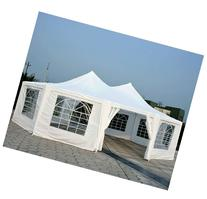 Outsunny 29' x 21' 10-Wall Large Party Gazebo Tent - White
