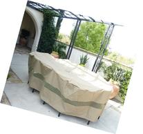 "Oval Patio Set Covers 120""L x 86""W fits rectangle table with"