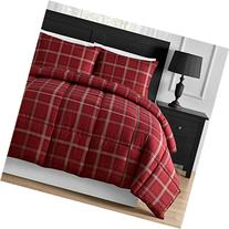 Comfy Bedding Luxurious Rose Red Plaid Down Alternative 3