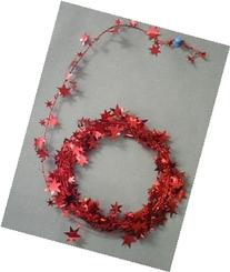 PARTY DECO Foil Star Garland, 25', Red