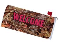 """ PINK CAMO WELCOME "" - Mailbox Makeover Vinyl Magnetic"