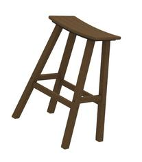 POLYWOOD 2002-TE Traditional Bar Height Saddle Seat Barstool