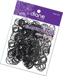 Pack of 500 Snag-Free Small Black Silicone Rubber Bands