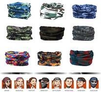 9PCS Headbands, Outdoor Multifunctional Headwear, Sports