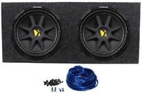 Kicker 10C12D4 12-Inch 800W Subwoofers with Sealed Box