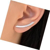 Pair of sterling silver ear cuffs, fashion earrings, silver