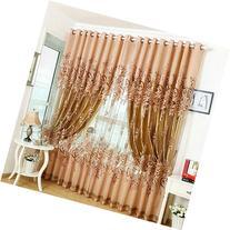 PanDaDa Modern Room Floral Tulle Window Screening Curtain