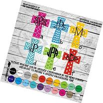 Patterned Cross Monogram Vinyl Die Cut Decal Sticker for Car