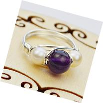 Pearl and Amethyst Sterling Silver, Yellow, or Rose Gold