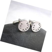 Personalized Initials and Date CuffLinks for Your Wedding,