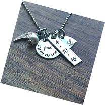 Personalized Little Girls Necklace First Communion Gift
