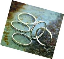 Personalized Stacking Poesy Ring, thin hand stamped sterling