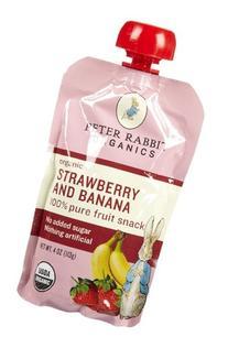 Peter Rabbit Organics Strawberry & Banana - 10 pk, Size 10