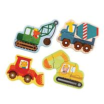 Petit Collage Beginner Jigsaw Floor Puzzle, Construction