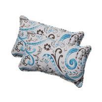 Pillow Perfect Indoor/Outdoor Paisley Corded Rectangular