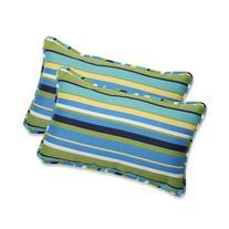 Pillow Perfect Outdoor Topanga Stripe Lagoon Rectangular