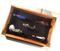 Pinewood Derby Car Display Case, Pine Standard 5-car case
