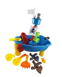 Pirate Ship Beach Sand and Water Play Table for Kids with