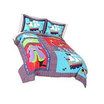 Pirate Treasure Twin Quilt with Sham