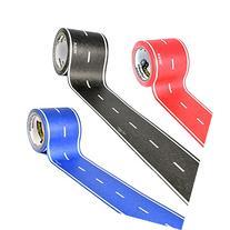 PlayTape Asphalt Road 3-Pack Bundle – 30' Black Roll, 30'