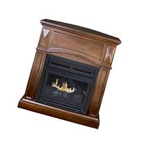 Pleasant Hearth Convertible Vent-Free Dual Fuel Fireplace,