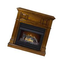 Pleasant Hearth Convertible Vent-Free Dual Fuel Fireplace in