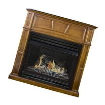 Pleasant Hearth Vent-Free Dual Fuel Fireplace in Rich
