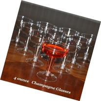 Polar Ice Disposable Plastic Champagne Glasses, 4 Ounce, Box