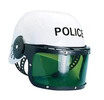 Police Motorcycle Cop Helmet & Visor Child Costume by Castle
