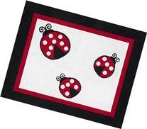 Polka Dot Ladybug Accent Floor Rug by Sweet Jojo Designs