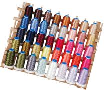 Polyester Embroidery Thread Set - 40 Large Spools  - Set D