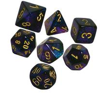 Polyhedral 7-Die Borealis Chessex Dice Set - Royal Purple