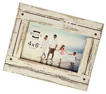 Prinz Homestead Distressed Wood Frame, 5 by 7-Inch, White