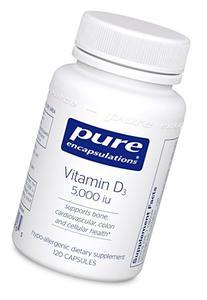 Pure Encapsulations - Vitamin D3 5,000 IU - Hypoallergenic